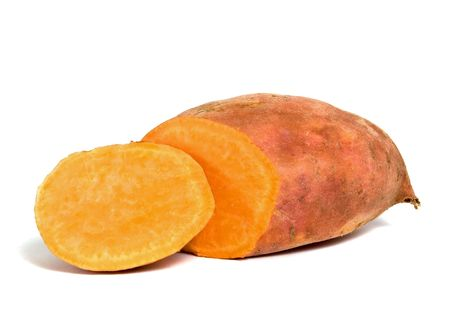 Sweet Potato on white background Stock Photo