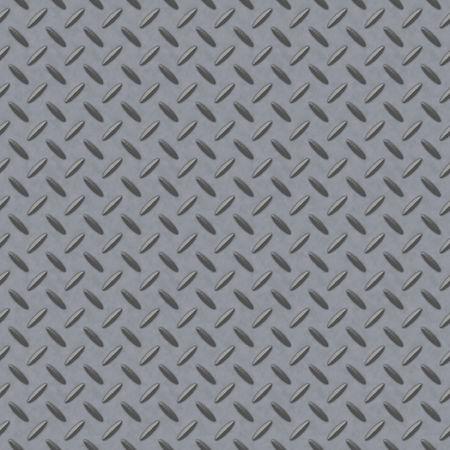 Checkerplate metallo sfondo che senza soluzione di piastrelle