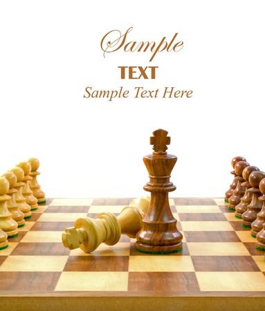 tablero de ajedrez: Piezas de ajedrez en la Junta con copia espacio para el texto.