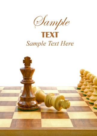 Pezzi di scacchi al consiglio di amministrazione con copia spazio per il testo.