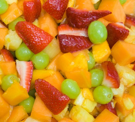 Close up image of fresh fruit salad Stock Photo - 4071325