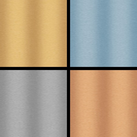 Selection of four brushed metal backgrounds each of which will tile seamlessly. Stock Photo - 4465624