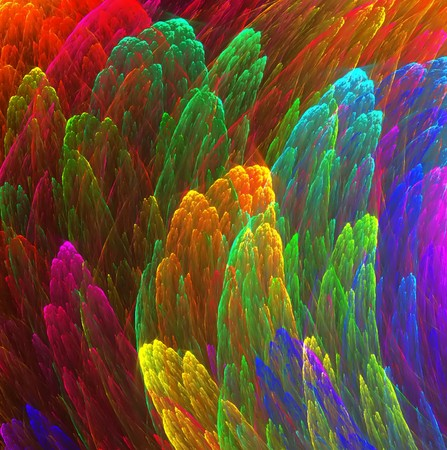 vapour: Vibrant background of abstract fractal plumes