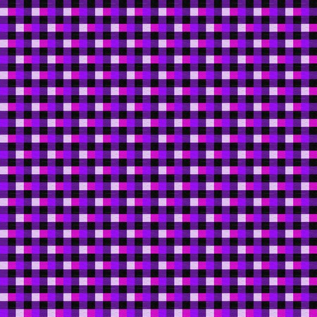 Seamless plaid background in tones of purple and pink. photo