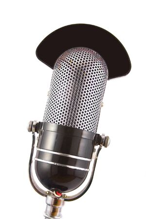 Retro microphone used for radio, talk back, news broadcasts Stock Photo - 4525588