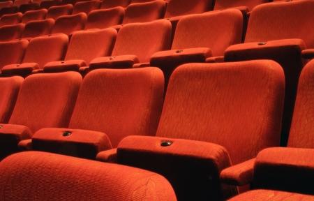 Rows of theatre seats  Stock Photo