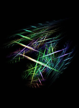 criss cross: Vibrant abstract criss cross over black background.