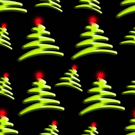 Christmas Trees Background which will tile seamlessly photo