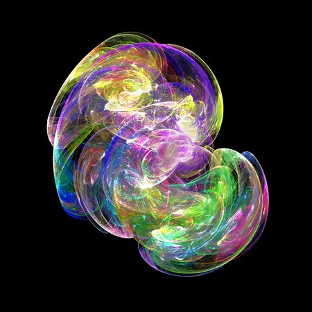 slick: Abstract vibrant Oil Slick Bubble isolated over black background