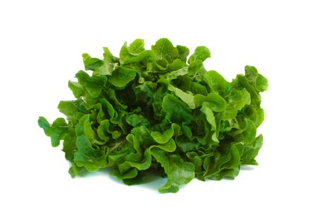 Oak Leaf Lettuce isolated over white background. Stock Photo