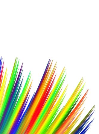 Vibrant stripes of color streak from left hand side of image with top copy space.