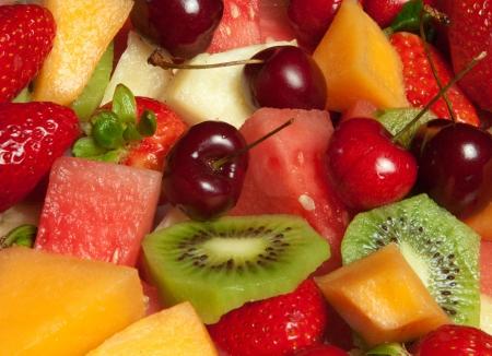 Selezione di frutta fresca delizioso piatto