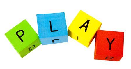 Alphabet Building Blocks creating words photo