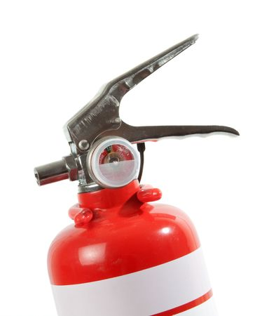 Portable Fire Extinguisher isolated over white background. photo