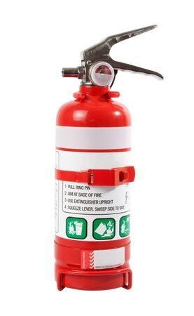 Portable Fire Extinguisher isolated over white background.