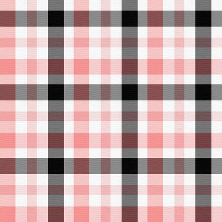 checks: Seamless background in pink, white and black checkered pattern with texture.