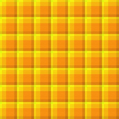 Bright yellow and orange plaid background which will tile seamlessly. Stock Photo