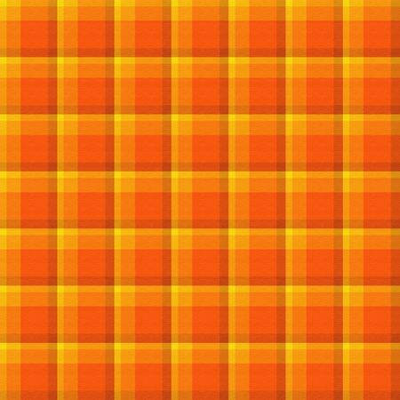 Bright orange plaid background which will tile seamlessly. Stock Photo