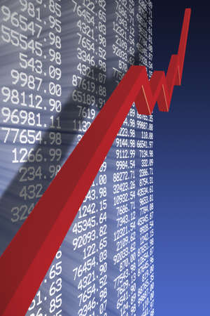 stock quotes: Economic recovery Stock Photo