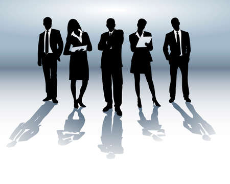 Business team Stock Vector - 4658581