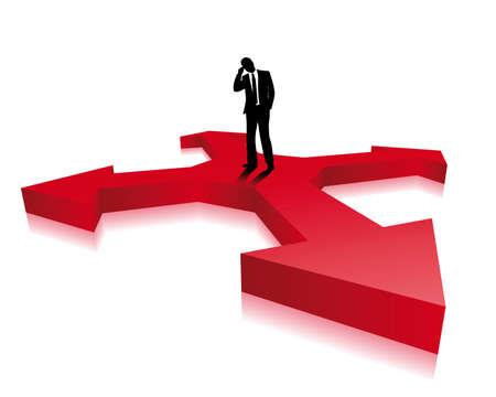 alignment: hombre de negocios toma una decisi�n Vectores