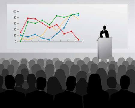 Speech of Director Stock Vector - 4658582