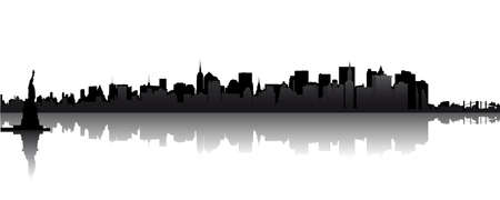 Skyline of New York Vector