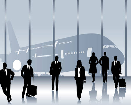 passenger: business travelers Illustration