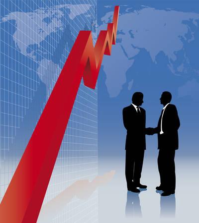 collegial: stock brokers Illustration