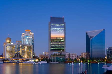 the emirates: Rascacielos de Dubai Foto de archivo