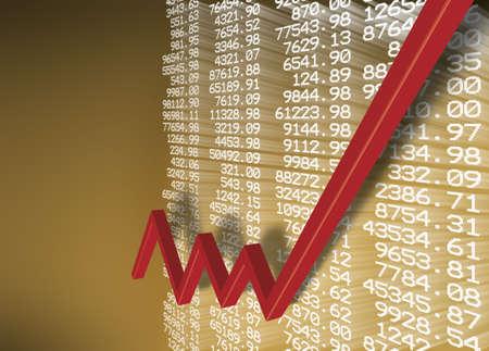 voorraad grafiek Stockfoto