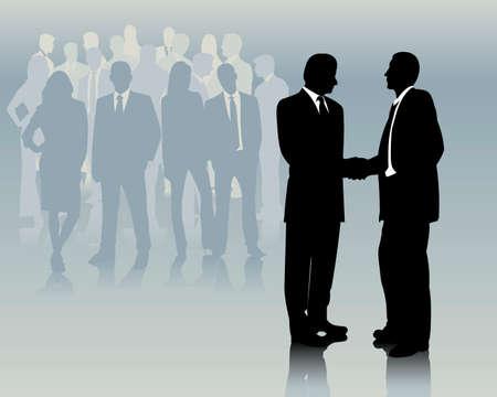 akkoord: zakelijke bijeenkomst Stock Illustratie