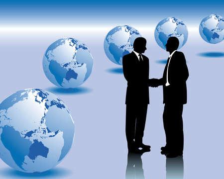 manos estrechadas: negocios internacionales Vectores