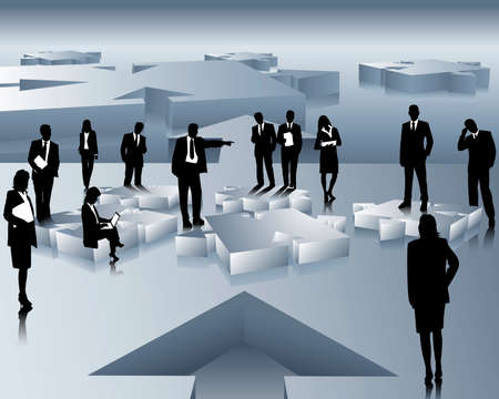 collegial: company and business people
