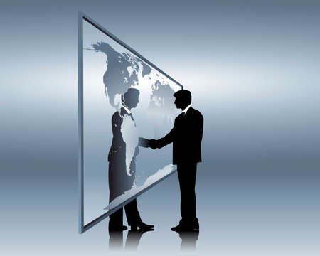 collegial: international business people
