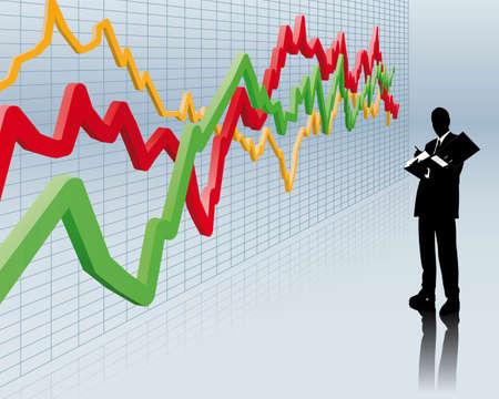 effecten makelaar  Stock Illustratie