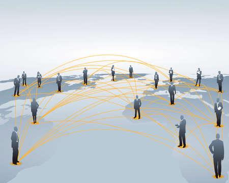 la creación de redes en todo el mundo Ilustración de vector