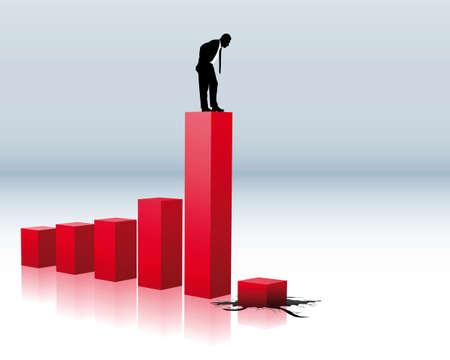 derrumbe: el colapso del volumen de negocios
