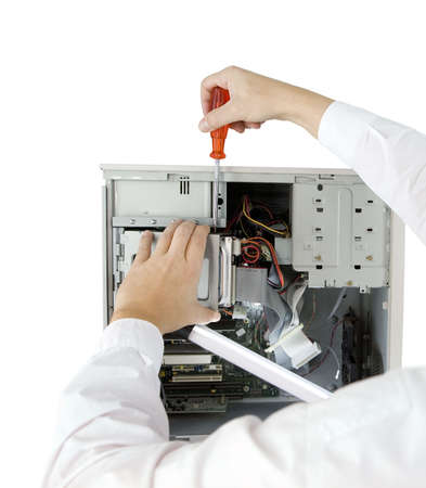 reparaturen: Computer-Experte Lizenzfreie Bilder