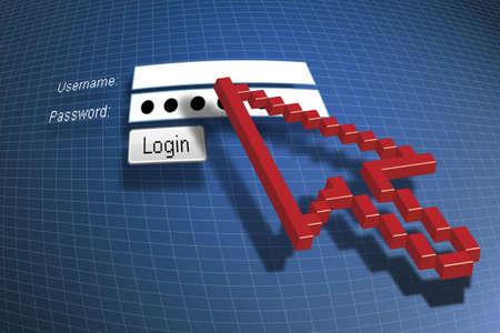register: log on