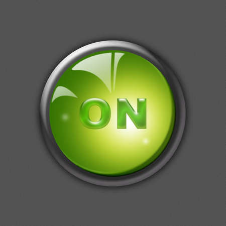 green power button photo