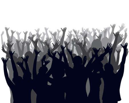 cheering audience Stock Vector - 4763745