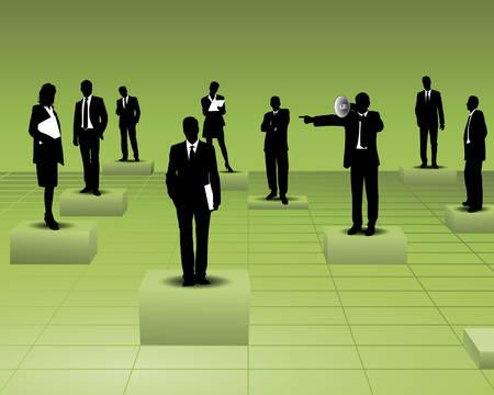 delegar: jefe y los empleados