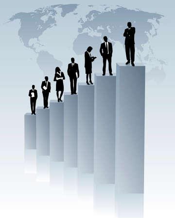 global upward trend Stock Vector - 4763747
