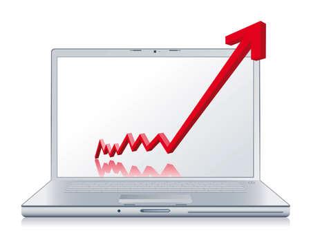 planning diagram: ripresa economica Vettoriali