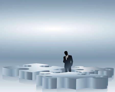 alineaci�n: estrategia de un hombre de negocios  Vectores