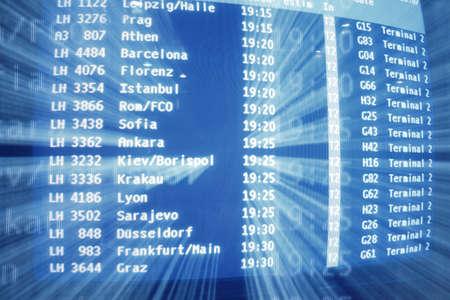 flight displays Stock Photo - 4792527