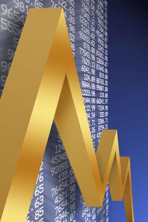 dax: economic downturn Stock Photo