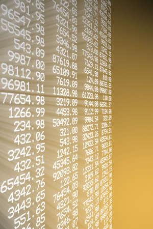 Aandelen grafiek Stockfoto - 4792403
