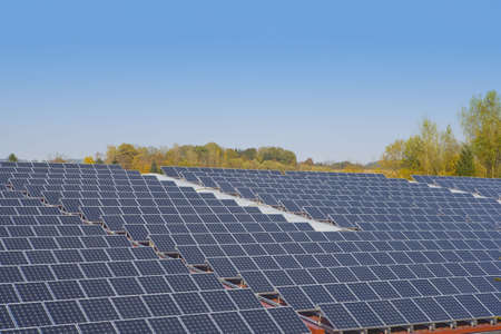 alternative energy sources: solar energy Stock Photo